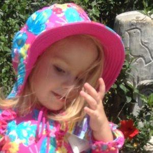 Reversible Pink Floral Sun Hat